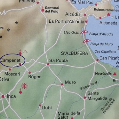 Map - Campanet in Mallorca