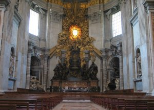 Inside St Peters Basilica
