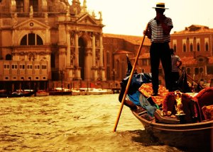Romantic gondola tour Venice