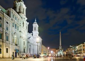 Rome Piazza Navona Night