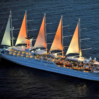 Club Med 2 is a stunningly-beautiful, five-masted, luxury sailing ship